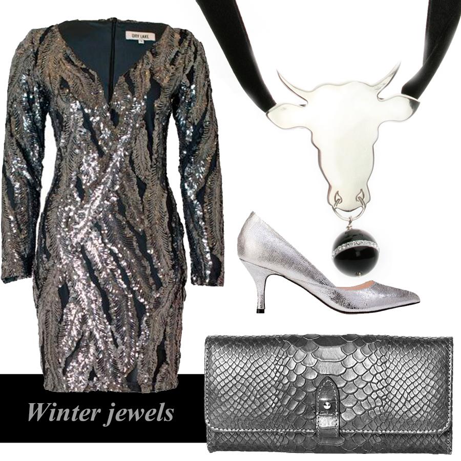 klær styling sølv smykker