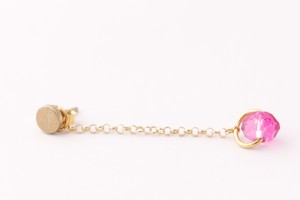 øredobber gull og rosa