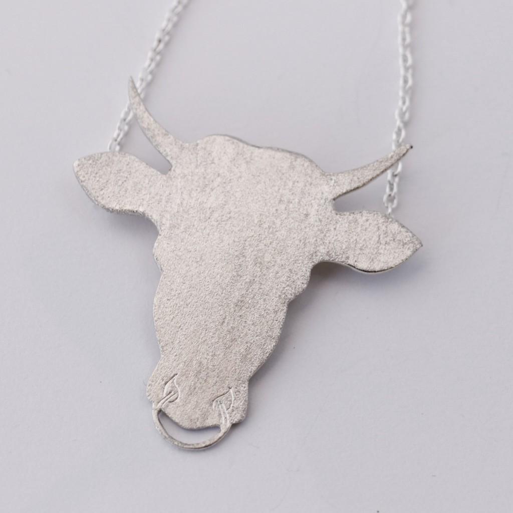 Halskjede sølv stort tyr (2)