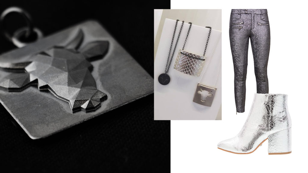 Sølv sko styling