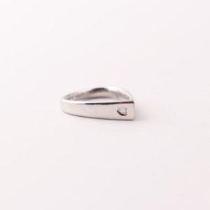 dråpe ring smykke ring enkel sølvring