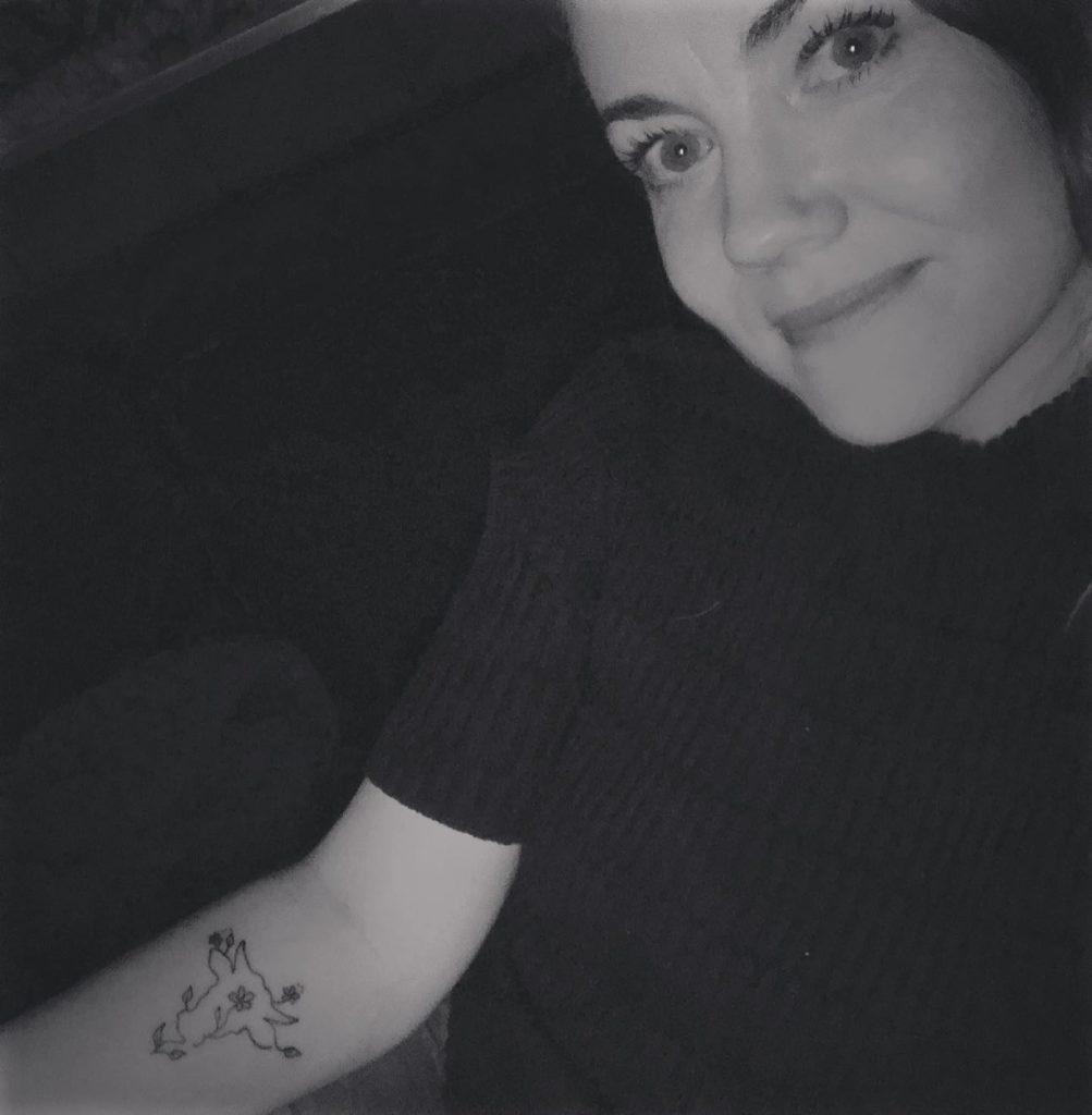Linje tattovering. Okse.